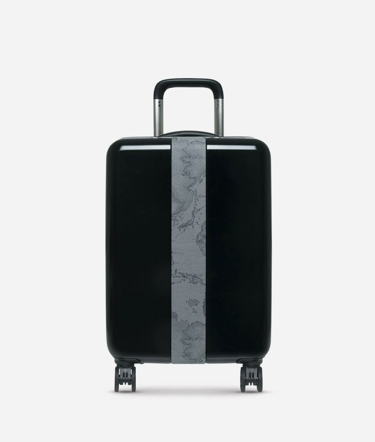 Solid Case Small suitcase in Geo Dark,front