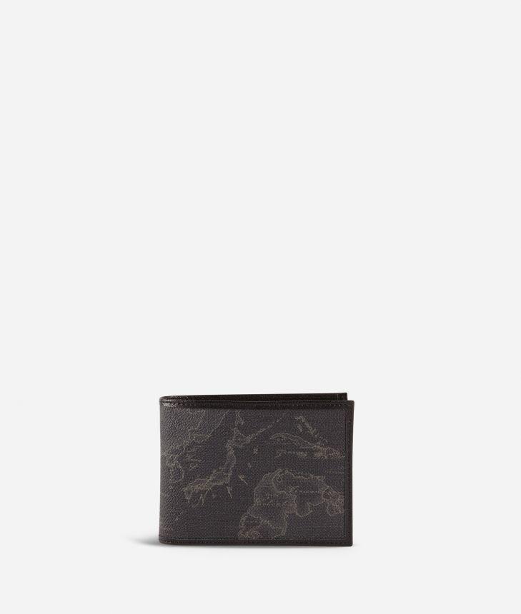 Geo Black men's wallet black,front