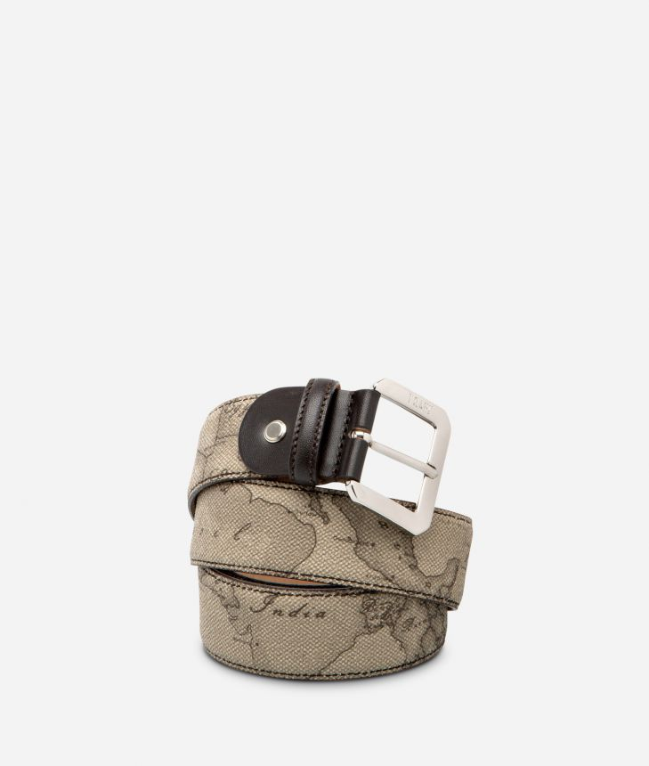 Geo Tortora Belt with metal buckle,front