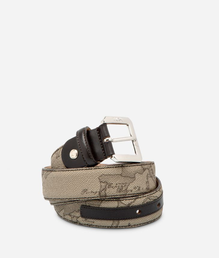 Geo Tortora Belt with metal buckle,front