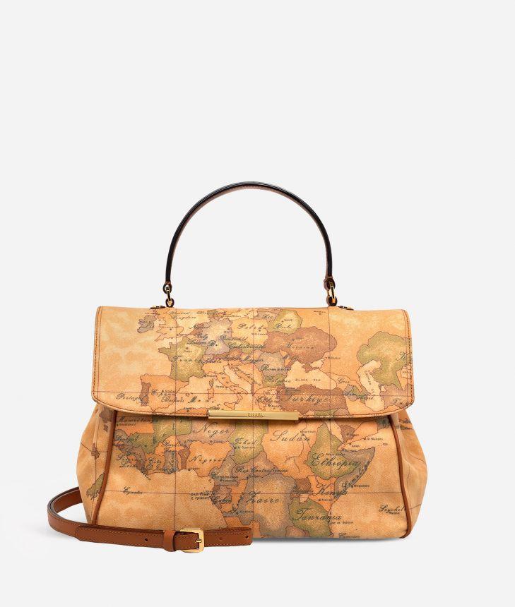 Geo Classic Medium bag with flap closure,front