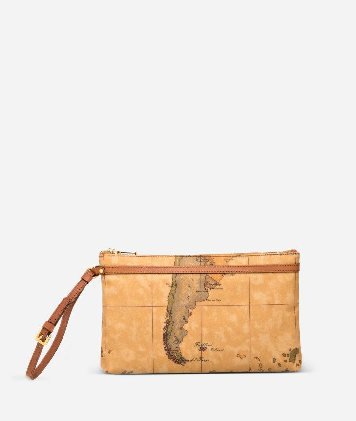 Geo Classic Large wristlet clutch,front