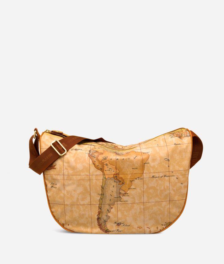 Geo Soft Large half-moon bag,front