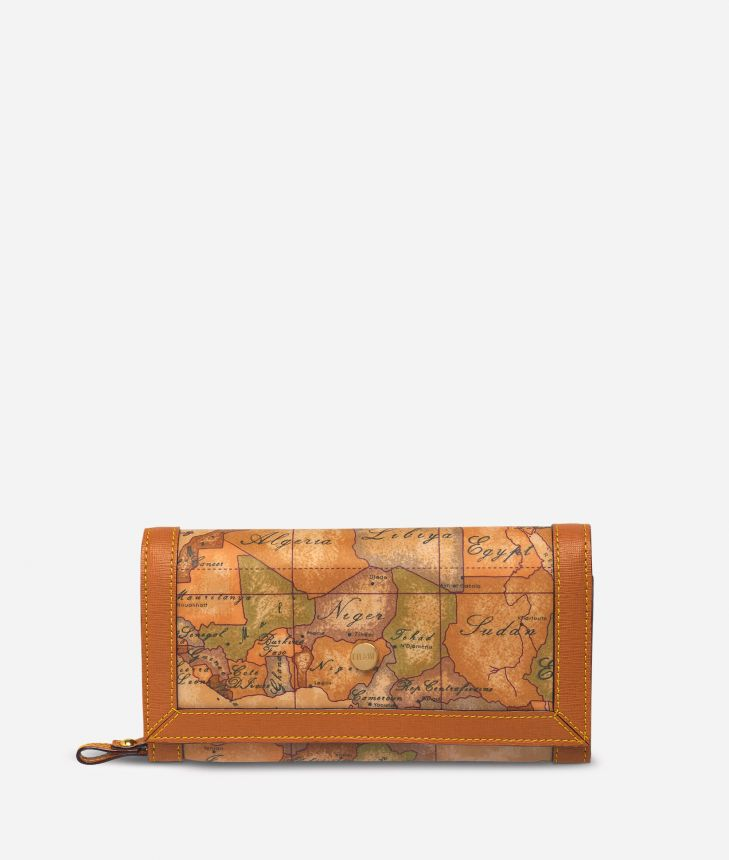Geo Soft Large wallet with pocket,front