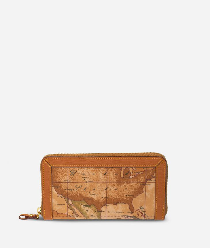 Geo Soft Large zipped wallet,front