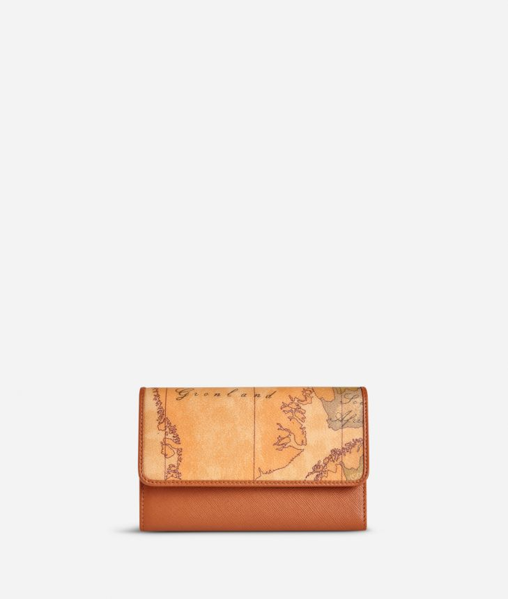 Geo Classic Small wallet with button,front