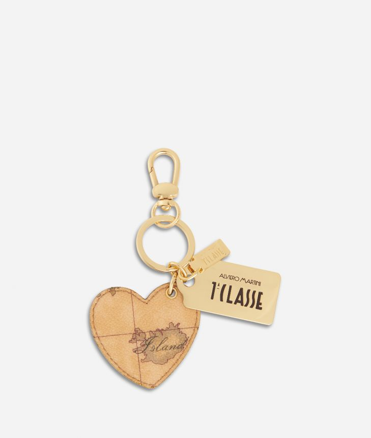 Geo Classic Heart Keyring,front