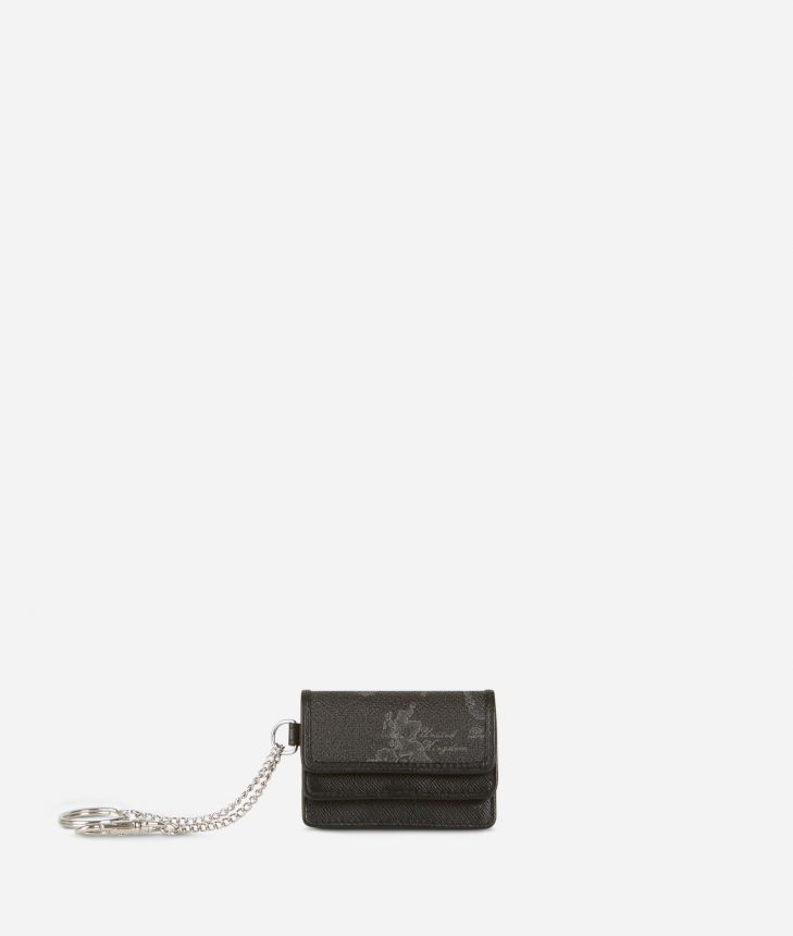 Geo Black Key ring pouch,front