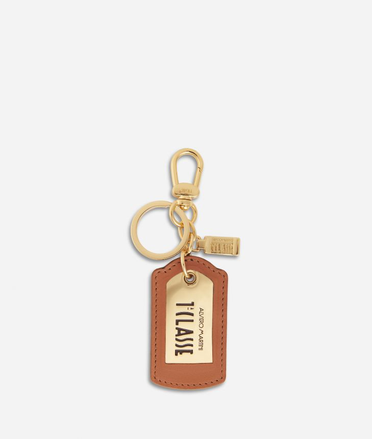 Geo Classic Logo tag keyring,front