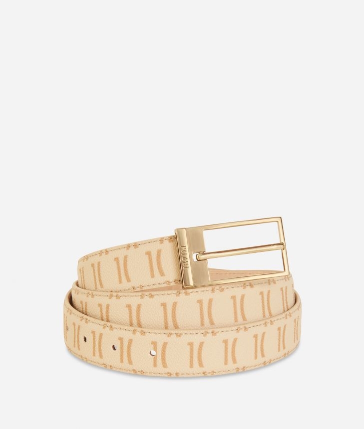 Monogram Woman Belt Cream,front
