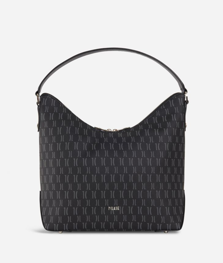 Monogram Hobo bag Black,front