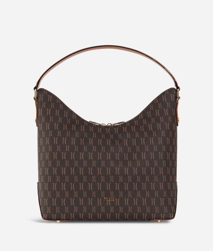 Monogram Hobo bag Dark Buff,front