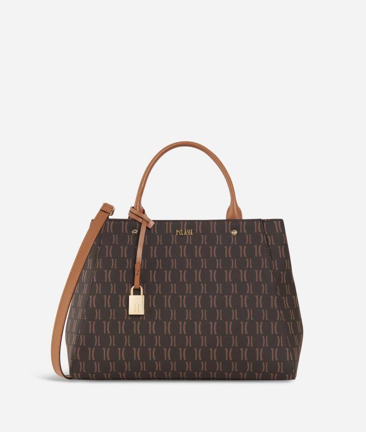 Monogram Small Handbag Dark Buff,front