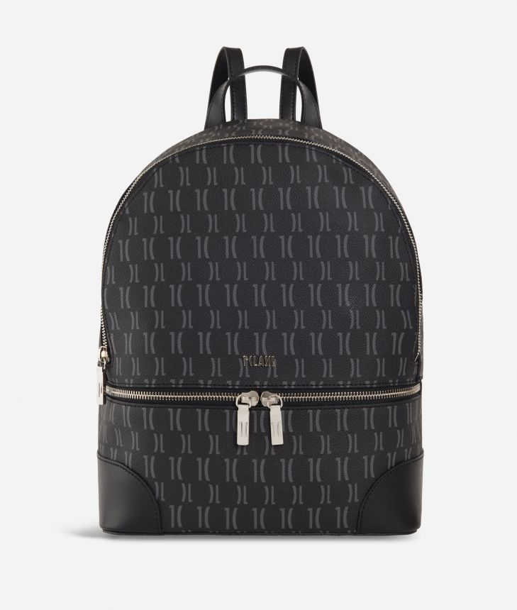 Monogram Big Backpack Black,front