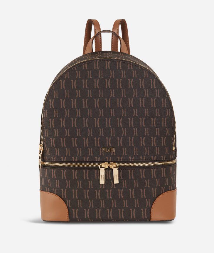 Monogram Big Backpack Dark Buff,front
