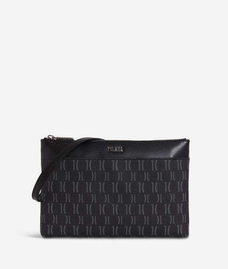 Monogram Small Crossbody Bag Black,front