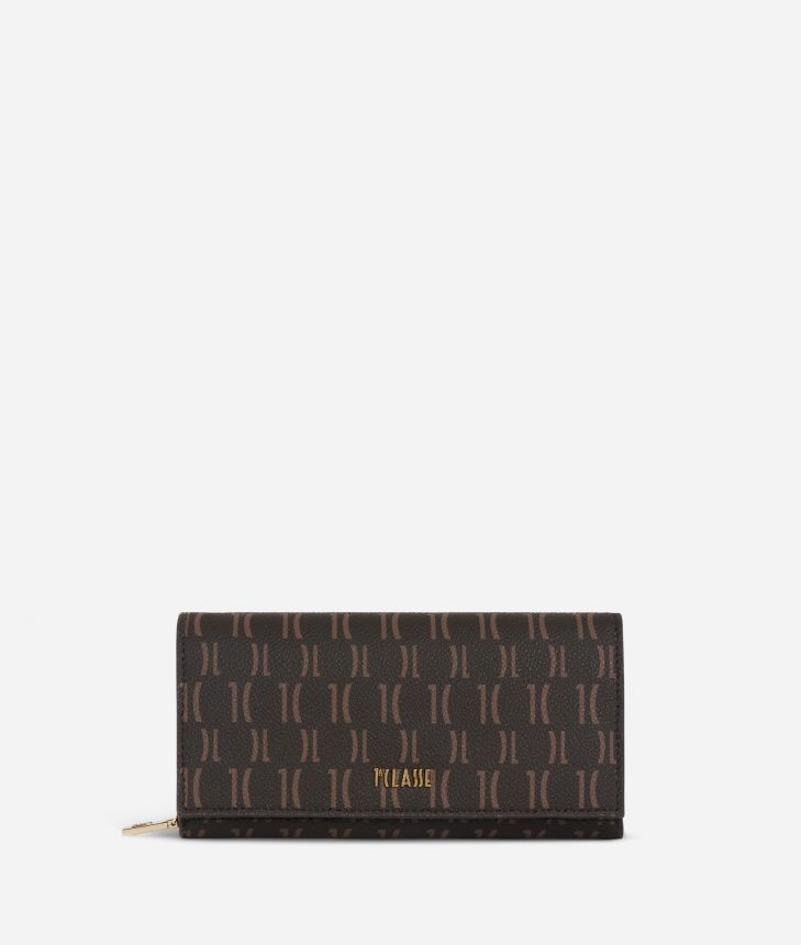 Monogram Woman Wallet Dark Buff,front