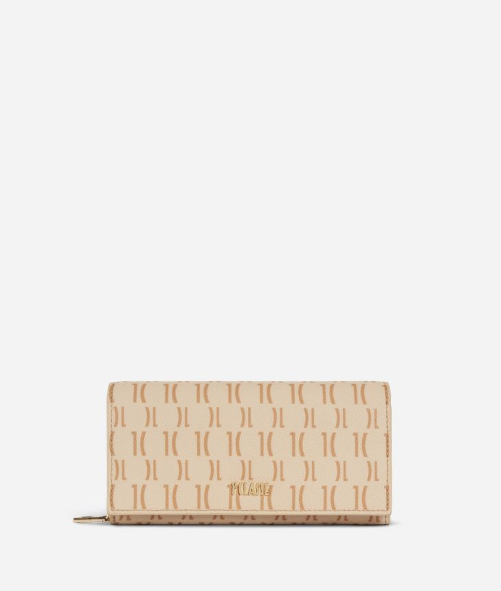 Monogram Woman Wallet Cream,front