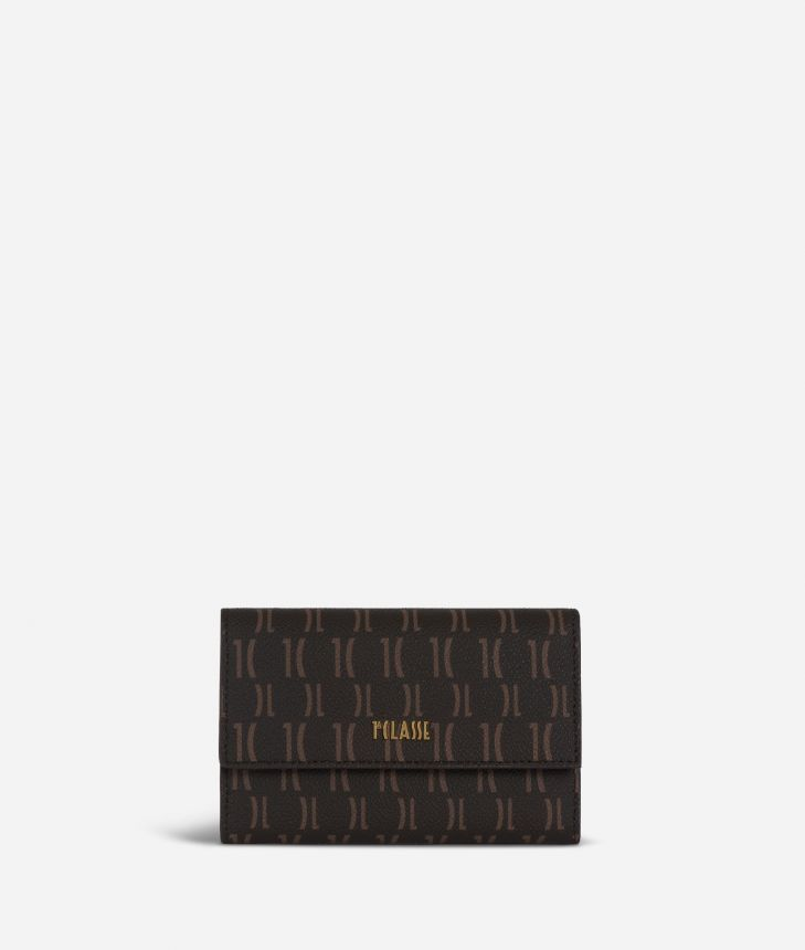 Monogram Small Wallet Dark Buff,front