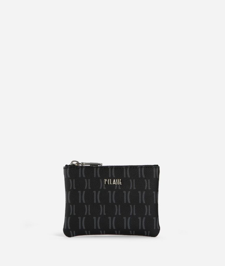 Monogram Small Pouch Black,front