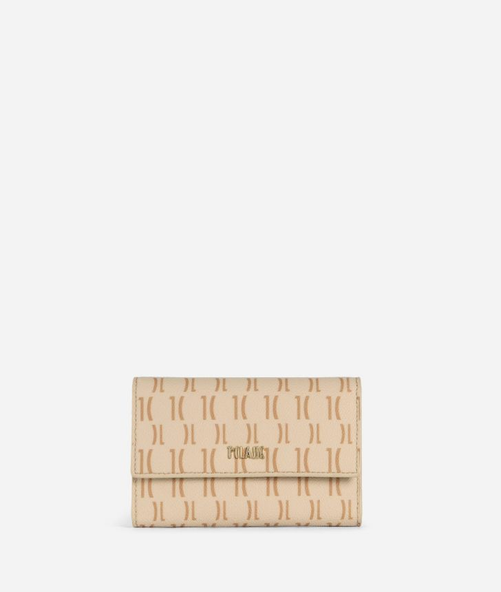 Monogram Small Wallet Cream,front