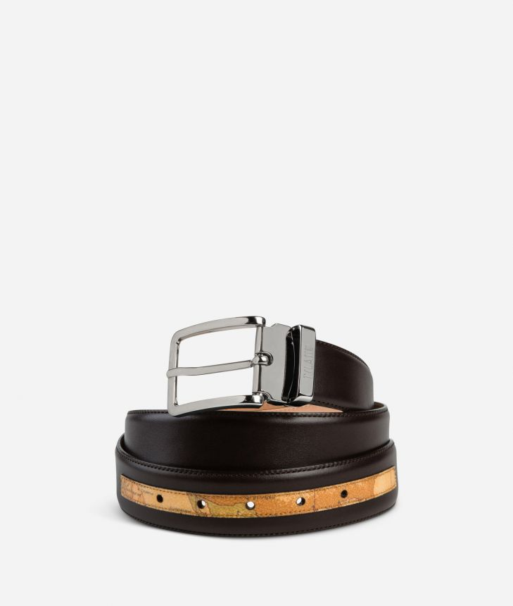 Dark Mood Leather and Geo Classic belt,front