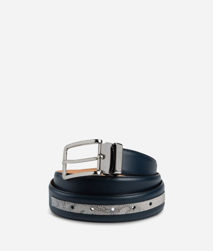 Dark Mood Leather and Geo Dark belt,front