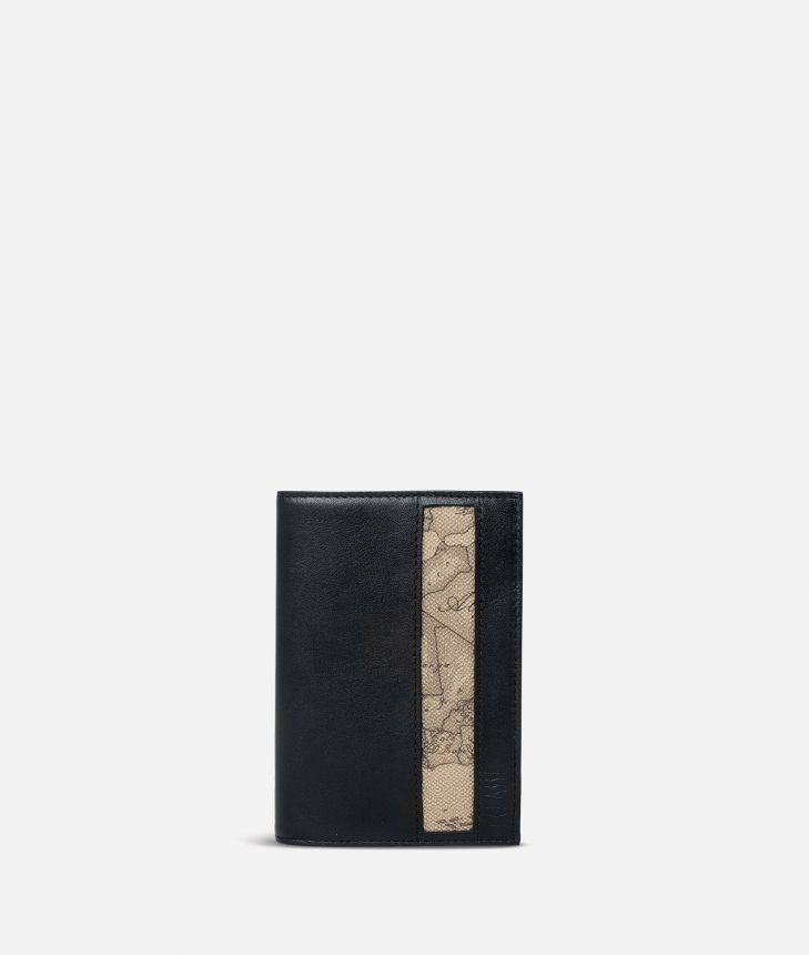 Passport cover Geo Tortora fabric trims,front