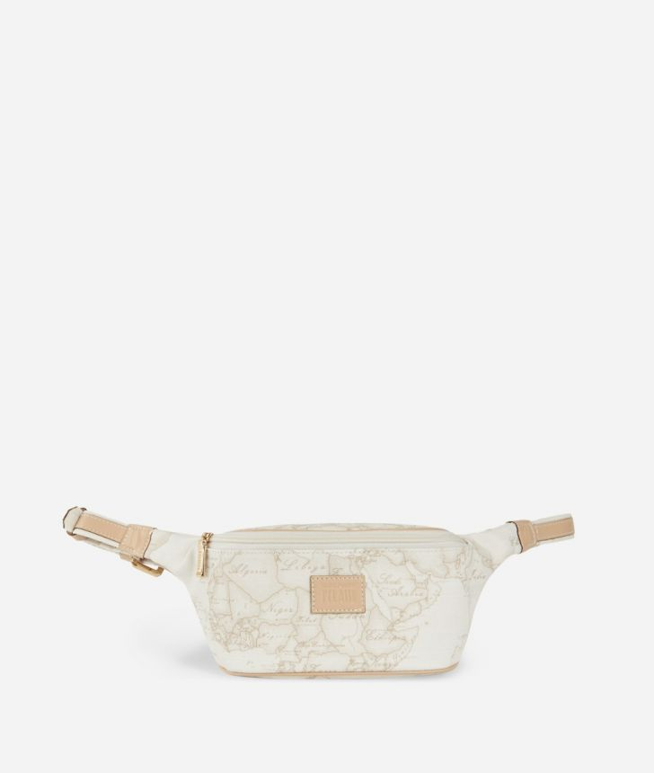 Geo White Pouch,front