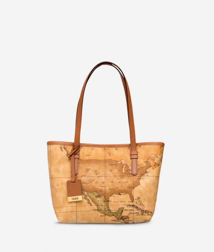Geo Classic Small Shopping Bag,front