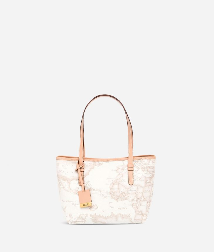 Geo White Borsa shopping piccola ,front