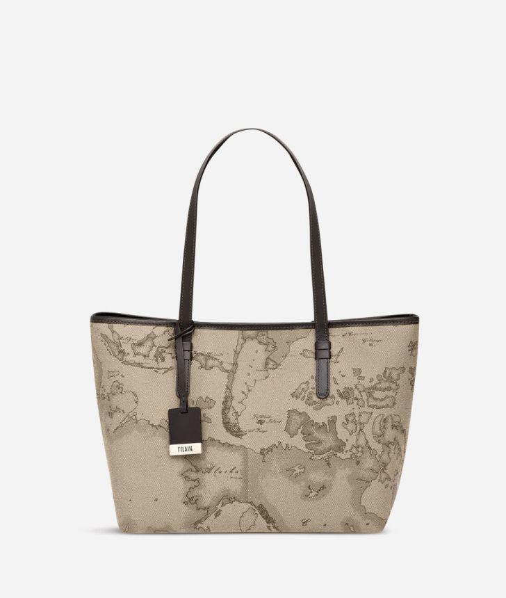 Geo Tortora Medium shopping bag,front