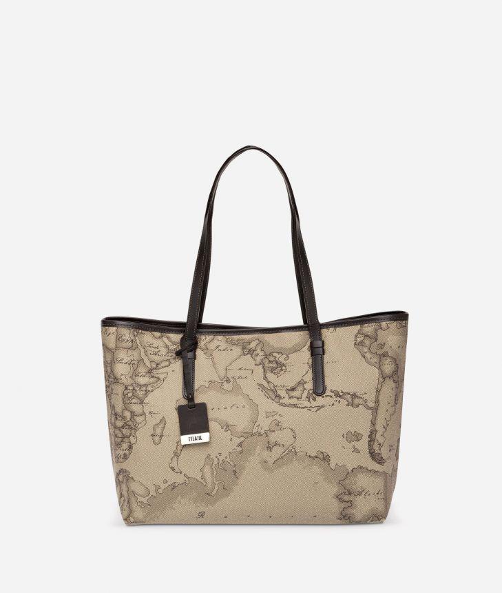 Geo Tortora Large shopping bag,front