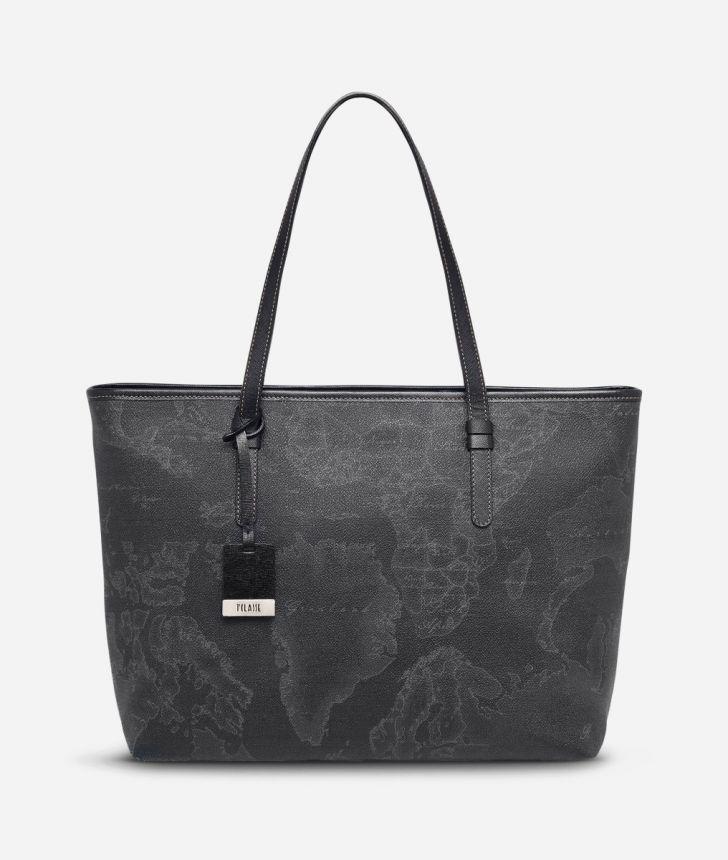 Geo Black Large Geo Dark shopping bag,front