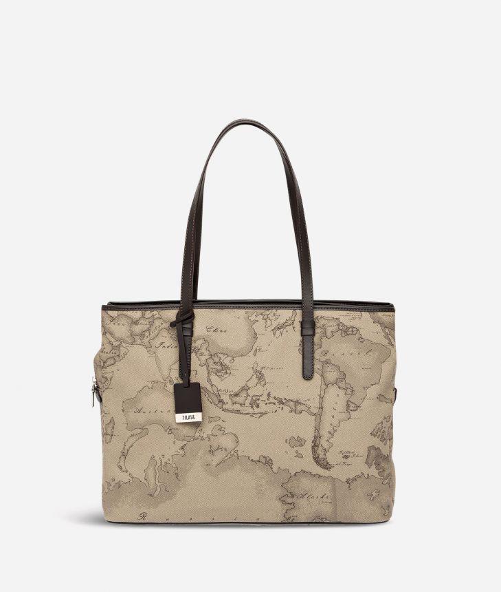 Geo Tortora Large business shoulder bag,front