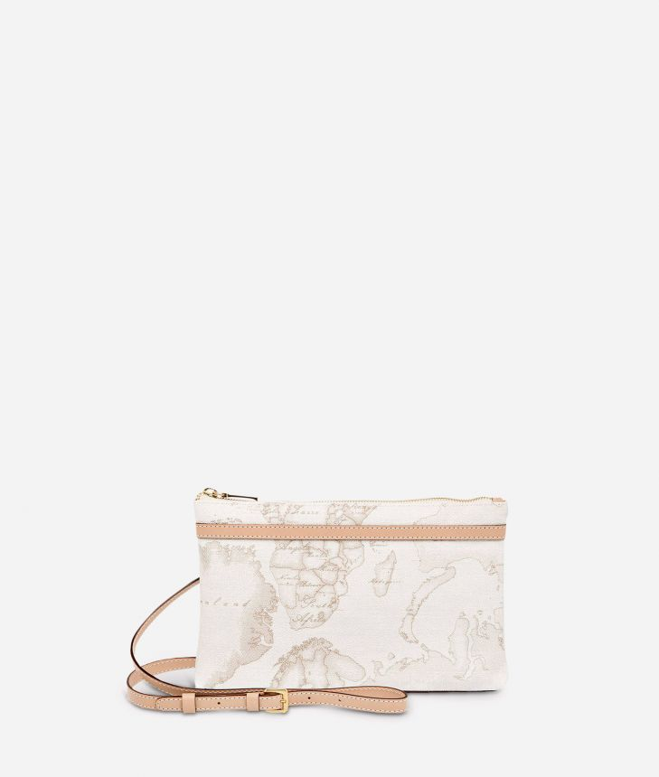 Geo White Medium crossbody bag,front