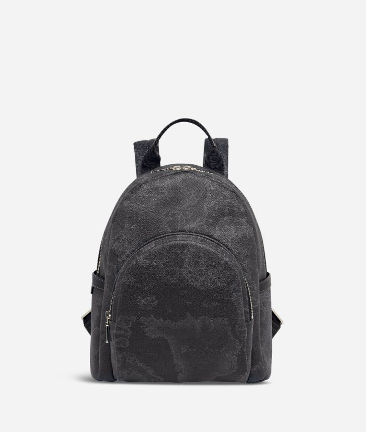 Geo Black Small backpack,front