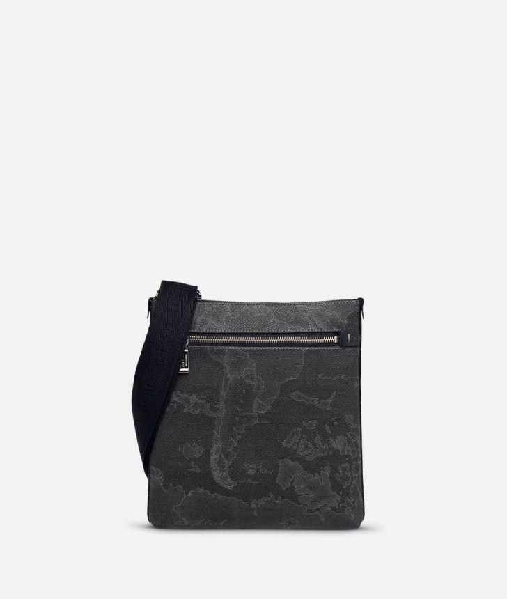 Geo Black Medium crossbody bag,front