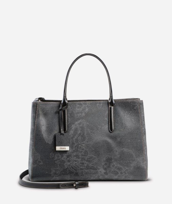 Geo Black Medium handbag,front