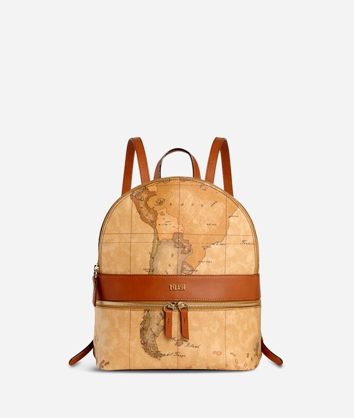 Geo Classic  Medium backpack with logo,front