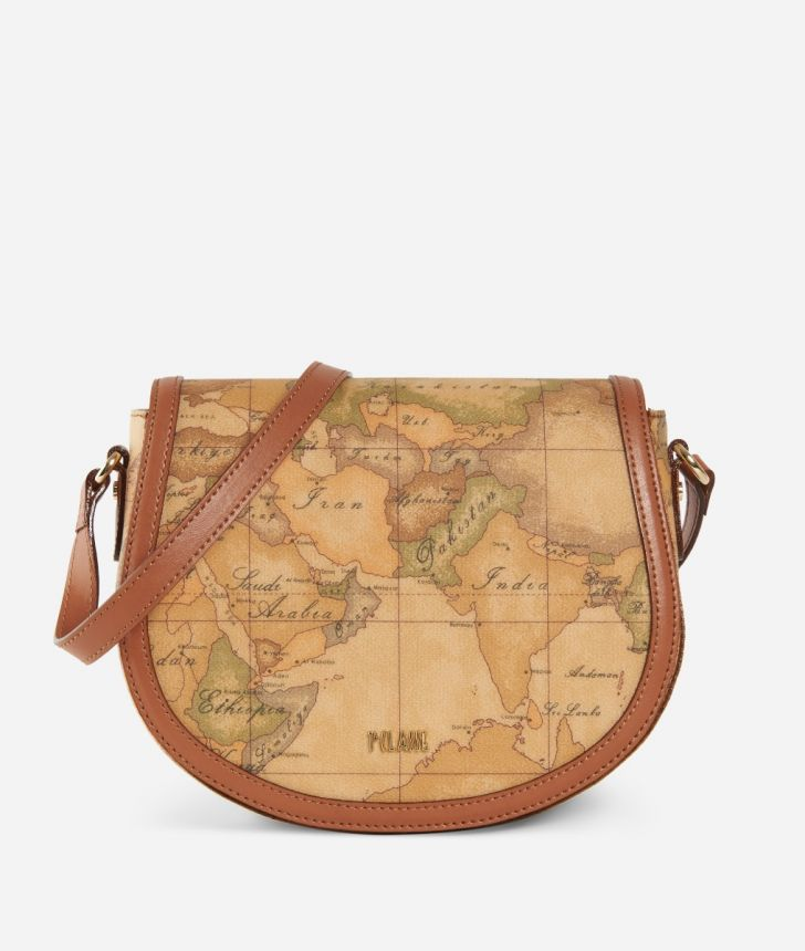 Geo Classic Crossbody bag with flap,front