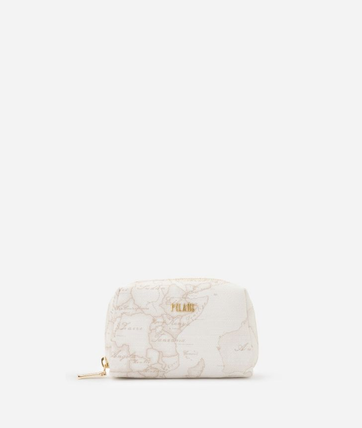 Geo White Small beauty case,front