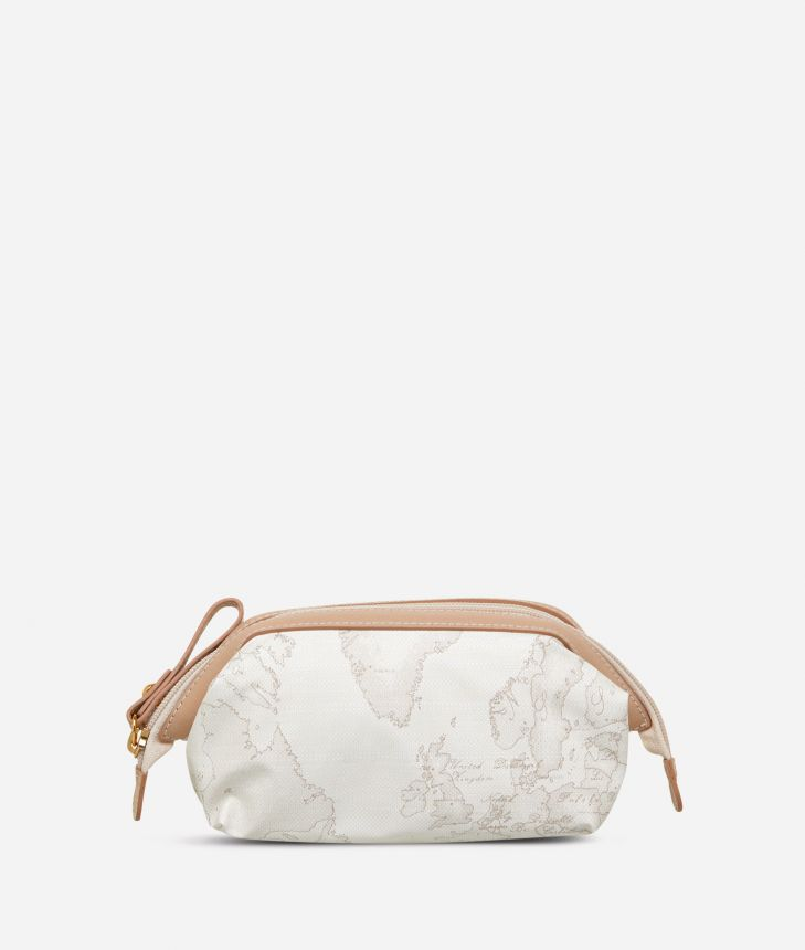 Geo Soft White Small beauty case,front