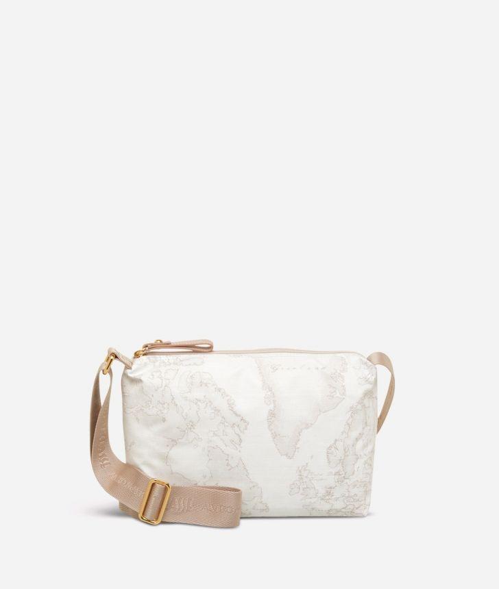 Geo Soft White Small crossbody bag,front
