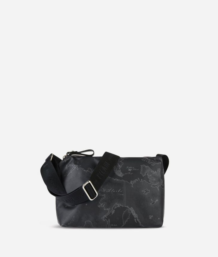 Geo Soft Black Small crossbody bag,front
