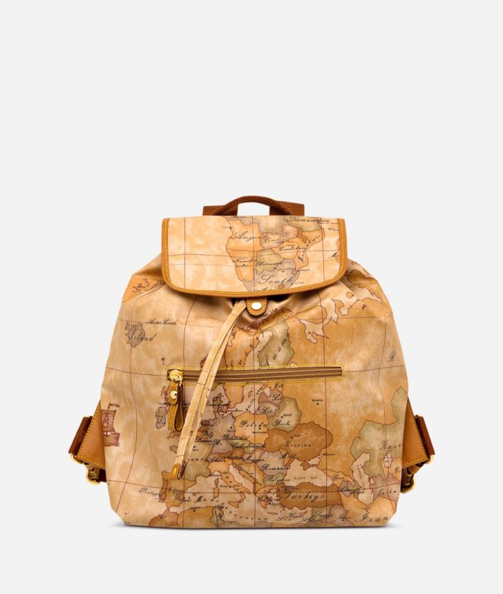 Geo Soft Backpack with front pocket,front