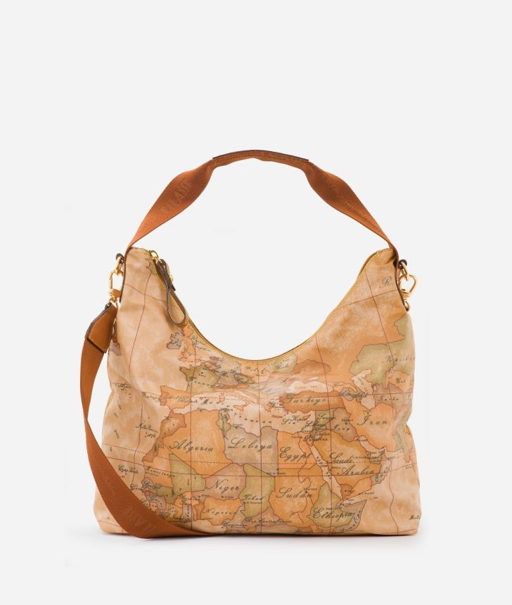 Geo Soft Shoulder bag with Geo Classic print,front