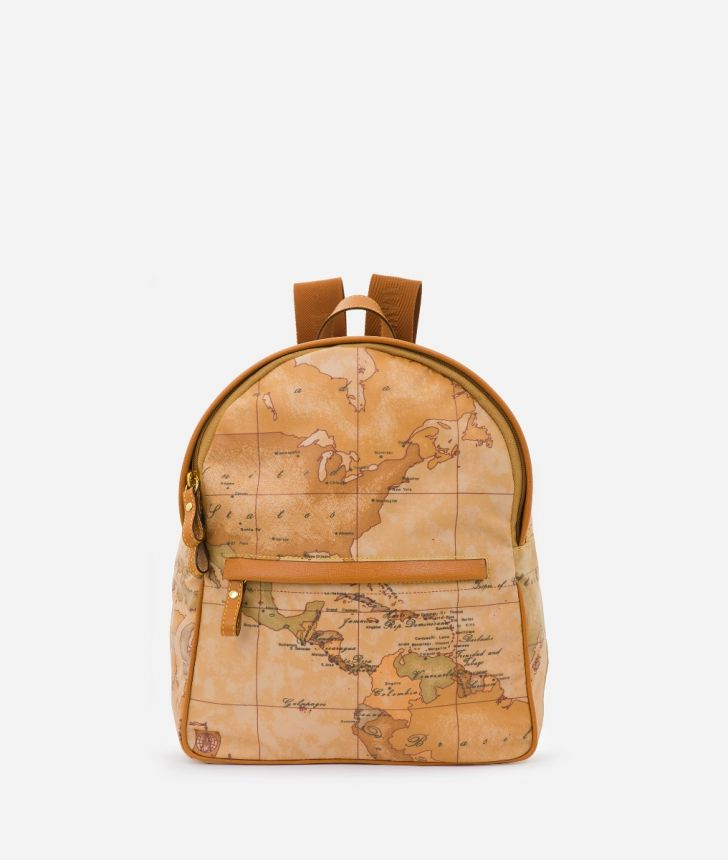 Geo Soft Backpack with Geo Classic print,front