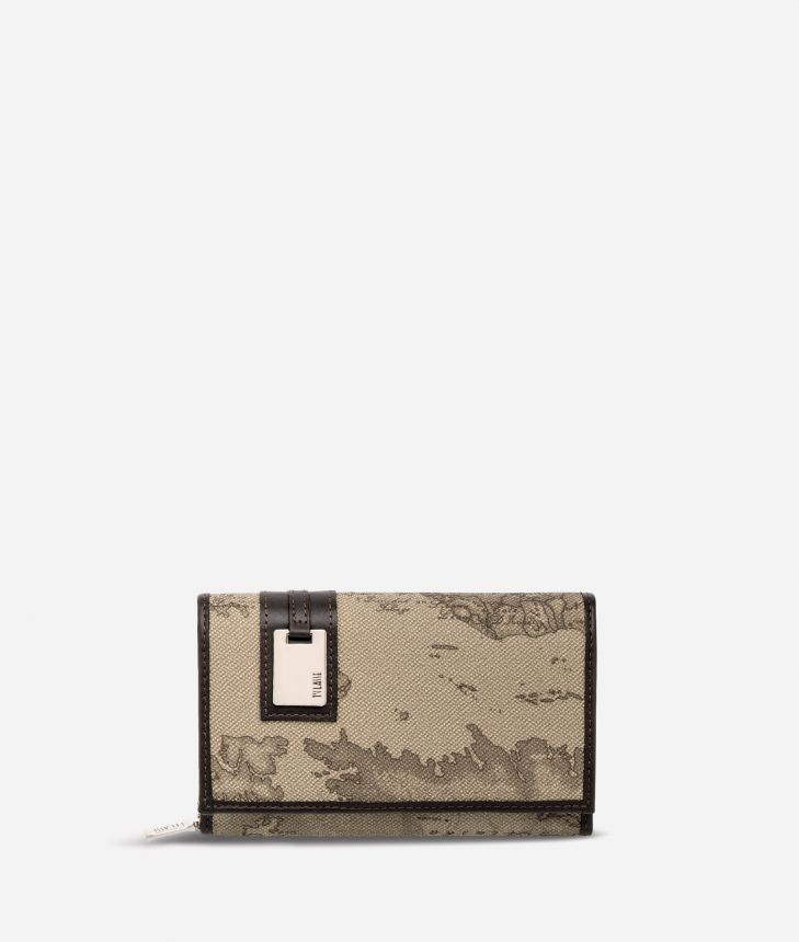 Geo Tortora Medium wallet with pocket,front