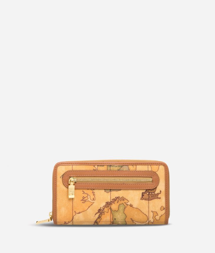 Geo Classic Large zipped wallet,front
